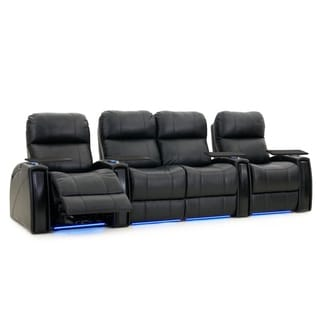 Octane Nitro XL750 Power Leather Recliner Home Theater Seating Set (Row of 4)