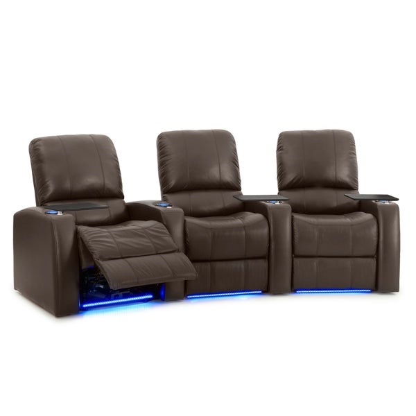 Octane Blaze XL900 Power Leather Home Theater Seating Set (Row of 3)