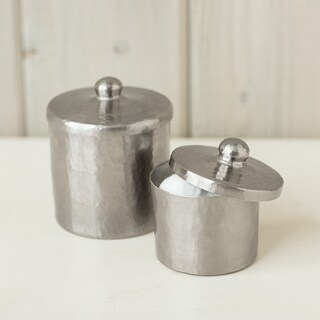 Brushed Nickel 3-inch Canister