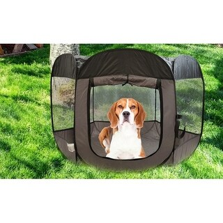 Pop Open Travel Pet Playpen for Indoor & Outdoor with Carrying Case