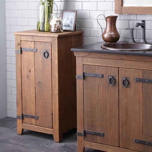 Shop Americana Reclaimed Wood Bathroom Floor Cabinet