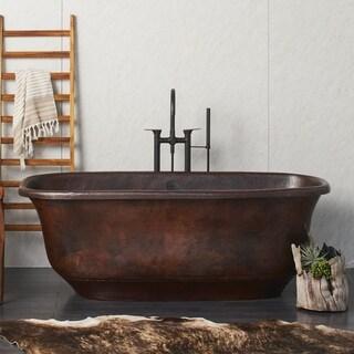 Santorini Antique Copper Freestanding Soaking Bathtub