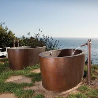 Aspen Antique Copper 64-inch Freestanding Soaking Bathtub