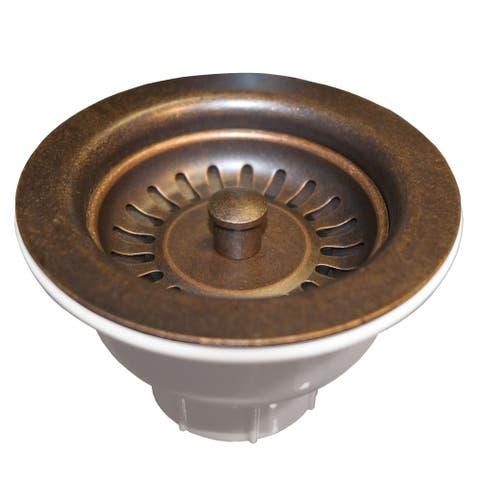 Weathered Copper 3.5-inch Basket Strainer