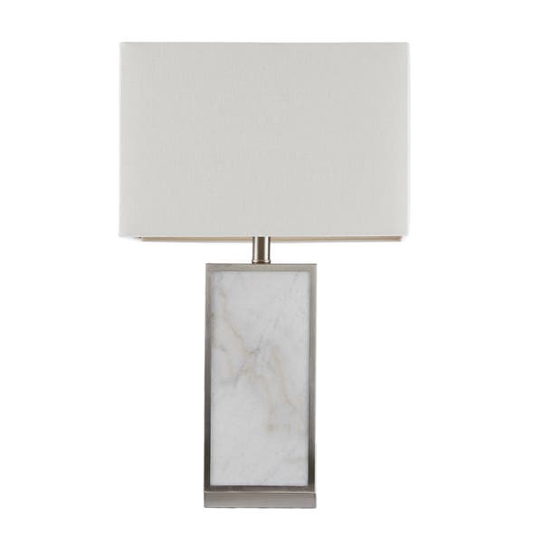 Walden White Silver 25 Inch Table Lamp With Square Lamp By Hampton Hill On Sale Overstock 18226042