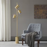 Urban Habitat Alta Gold 96-inch Floor Lamp with Round Shade Shape