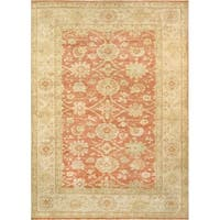 "Pasargad Sultanabad Coral/Ivory Hand-Knotted Wool Area Rug (9' 0"" X 11'10"")"