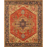 "Pasargad Serapi Collection Hand-Knotted Wool Area Rug (9' 1"" X 11'10"")"