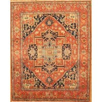 """Pasargad Serapi Hand-Knotted Rust Wool Area Rug (10' 0"""" X 13' 9"""") - 10' 0"""" x 13' 9"""""""