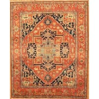 "Pasargad Serapi Hand-Knotted Rust Wool Area Rug (10' 0"" X 13' 9"") - 10' x 14'"