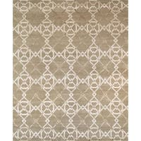 "Pasargad Modern Collection Hand-Knotted Silk & Wool Area Rug (8' 1"" X 10' 1"")"