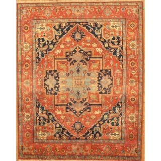"""Pasargad Serapi Collection Rust Hand-Knotted Wool Area Rug (8' 2"""" X 10' 3"""")"""
