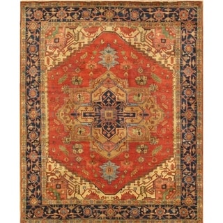 "Pasargad Serapi Collection Hand-Knotted Wool Area Rug (8' 1"" X 9'10"") - 8' x 10'"