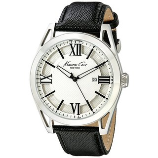 Kenneth Cole New York Men's Classic Roman Numeral Black Leather Watch