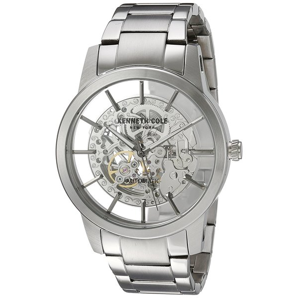 e595ef3a873 Kenneth Cole New York Men  x27 s Automatic 10031273 Skeleton Stainless  Steel Watch