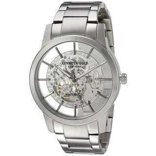 Kenneth Cole New York Men's Automatic 10031273 Skeleton Stainless Steel Watch