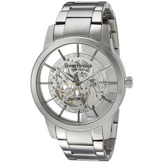 Kenneth Cole New York Men's Automatic 10031273 Skeleton Stainless Steel Watch|https://ak1.ostkcdn.com/images/products/18226112/P24366892.jpg?impolicy=medium