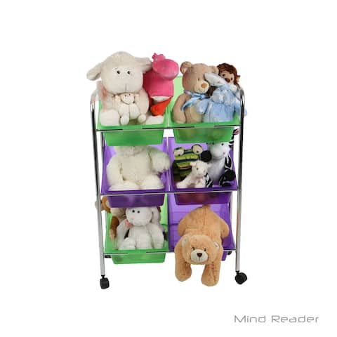 Mind Reader 6 Drawer Rolling Toy Organizer, Multi