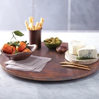 Hammered Tempered Copper 20-inch Lazy Susan|https://ak1.ostkcdn.com/images/products/18226124/P24366906.jpg?impolicy=medium