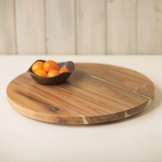 Acacia Wood 20-inch Lazy Susan