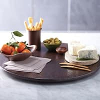 Hammered Antique Copper 20-inch Lazy Susan