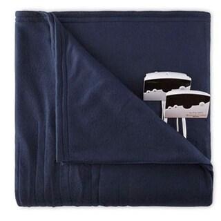 Biddeford 1004-9052106-544 Comfort Knit Fleece Electric Heated Blanket King Navy