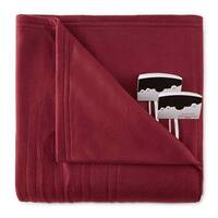 Biddeford 1004-9052106-302 Comfort Knit Fleece Electric Heated Blanket King Red