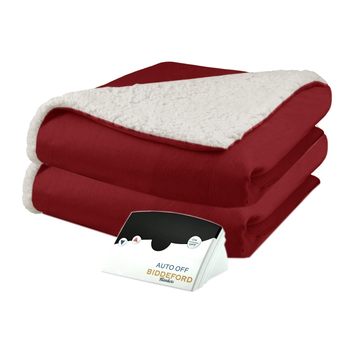 Shop Biddeford 6000 9051136 300 Micro Mink And Sherpa Heated Blanket Twin Brick Overstock 18226169