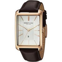 Kenneth Cole New York Men's 10030831 Rose-tone Brown Leather Dress Watch