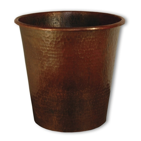 Shop Hand Hammered Copper Waste Basket Free Shipping