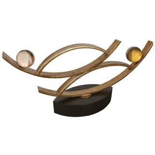 Van Teal Passion Goldtone Metal Sculpture with Black Base
