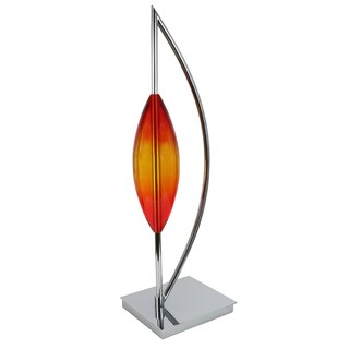 Van Teal Arc Tube Orange/Silver Acrylic/Chrome 30-inch Sculpture