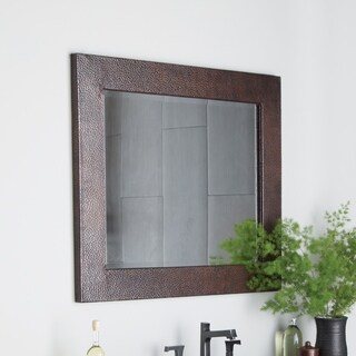 Sedona Antique Copper Large Rectangle Mirror - ANTIQUE COPPER