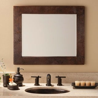 Sedona Antique Copper Large Rectangle Mirror - Antique Copper - A/N