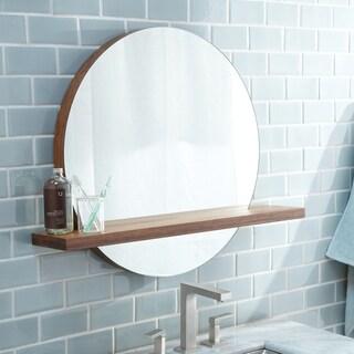 Solace Woven Strand Bamboo 22-inch Shelf Mirror - woven strand