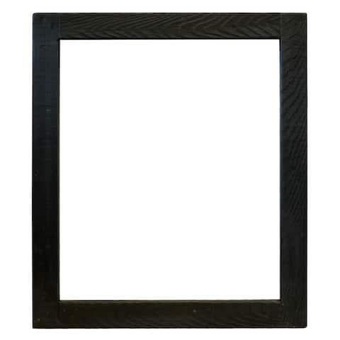Americana Wood Framed Large Rectangular Wall Mirror