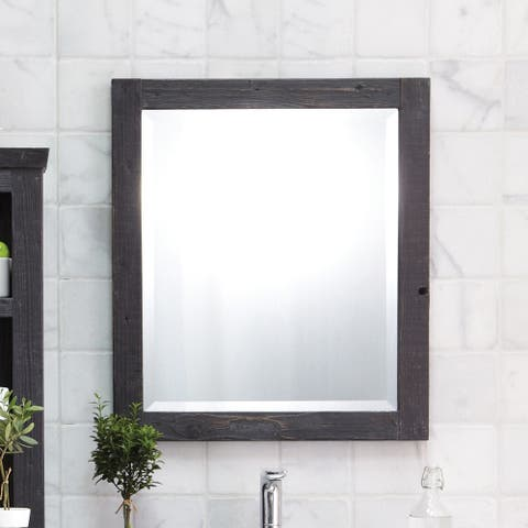 Americana Wood Framed Large Rectangular Wall Mirror