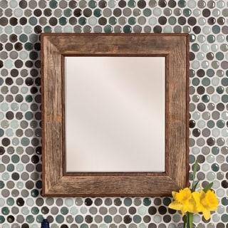 Bordeaux Natural Oak Rectangular Mirror - N/A