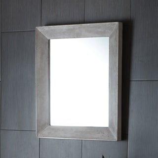 Portola Rectangle Concrete Mirror