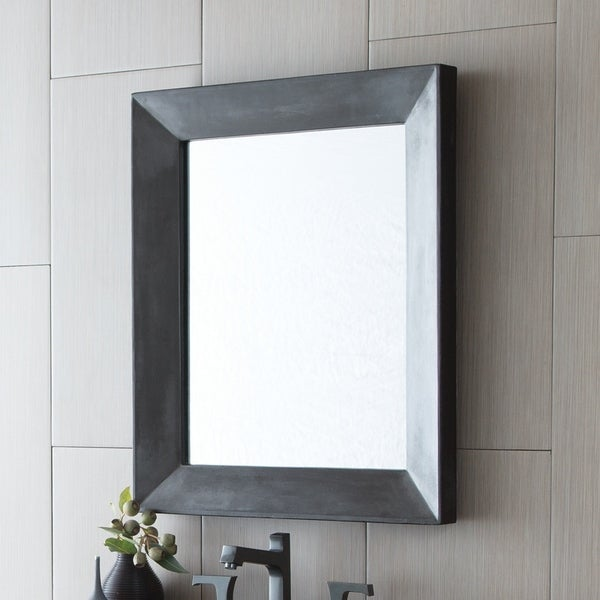 Portola Rectangle Concrete Mirror