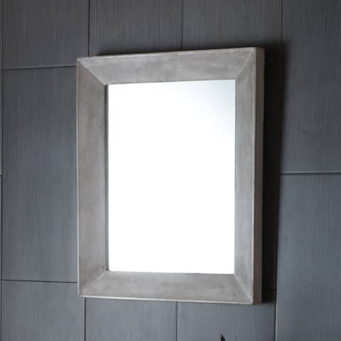 Portola Rectangle Concrete Mirror - A