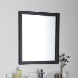 Havana Black Rectangle Steel Mirror