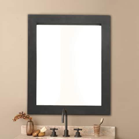 Cuzco Black Rectangular Wrought Iron Mirror