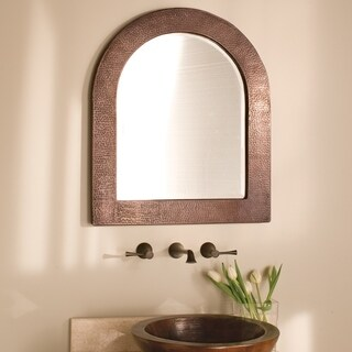 Sedona Antique Copper Arch Mirror - ANTIQUE COPPER