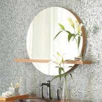 Solace Caramel Bamboo 28-inch Shelf Mirror