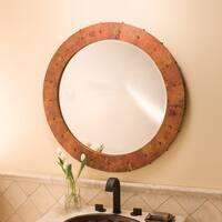 Tuscany Tempered Copper Round Mirror - tempered copper
