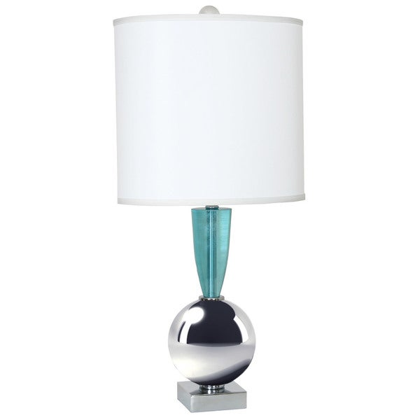 Van Teal Every Minute Chrome/Teal Steel/Acrylic 30-inch Table Lamp