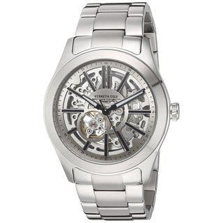 Kenneth Cole New York Men's Automatic 10030815 Skeleton Stainless Steel Watch|https://ak1.ostkcdn.com/images/products/18226386/P24367075.jpg?impolicy=medium