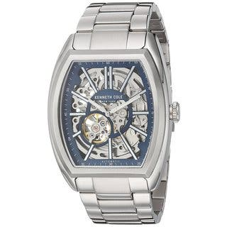 Kenneth Cole New York Men's Automatic Tonneau 10030812 Skeleton Stainless Steel Watch|https://ak1.ostkcdn.com/images/products/18226418/P24367076.jpg?impolicy=medium