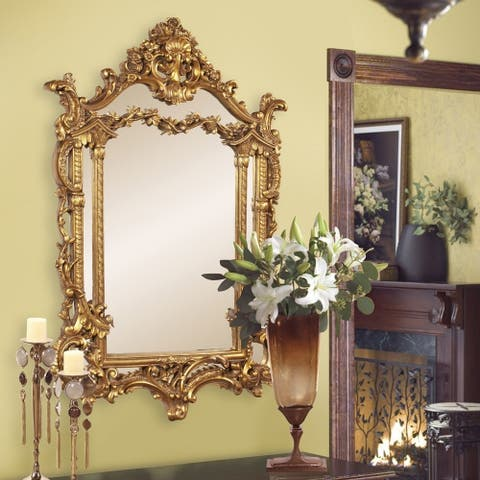 Howard Elliot Collection Allan Andrews Arlington Gold Baroque Mirror - Antique gold - A/N